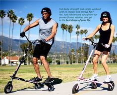 I love my Trikke.  This is by far the most fun I've ever had being active. Trikke™ Official Site | Carving Vehicles