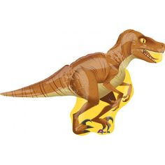 Anagram 40 x 28 inch SuperShape Dinosaur Raptor Foil Balloon One 40 x 28 inch Raptor SuperShape Foil Balloon. This giant balloon features a scary brown and tan toned raptor ready to strike at the party. Create the ultimate balloon bouquet with a bright bunch of our latex balloons and this cool Raptor SuperShape Foil Balloon in the center. Tie up your bouquet with some curling ribbon for the perfect finishing touch!   QUALITY PRODUCTS ALWAYSOUR PRODUCTS ARE 100% AUTHENTIC & GENUINE100% ...