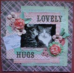 """lovely hugs"" Novembre 2010 (caroline duez) http://monscrapblogamoi.canalblog.com/"
