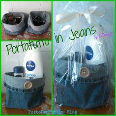 TuttoPerTutti: PORTATUTTO IN JEANS. THINK GREEN ALWAYS!! Riciclo di vecchi jeans, un porta-tutto semplice ed utilissimo! http://tucc-per-tucc.blogspot.it/2015/03/portatutto-in-jeans.html