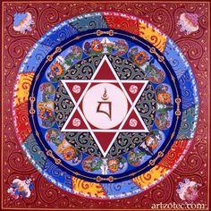 "Vajrayogini Mandala - painting by Peter ""Zotec"" Newman - www.artzotec.com"