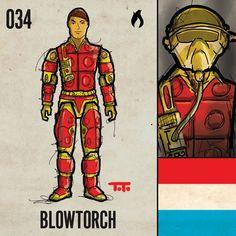 "034: ""Blowtorch"". G.I. Joe ""Real American Hero"" Series 3, 1984."