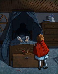 Grimm's:Little+Red+Riding+Hood+by+theartful-dodge.deviantart.com+on+@DeviantArt