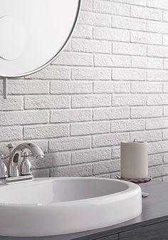 series: NEW YORK - VENICE - White Brick #farmhouse #whitebrick #whitetile #industrial #vintage #brick #walltile #tile