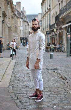 Street fashion homme barbu, vêtements homme, mode masculine printemps, la m Urban Street Fashion, Men Street, Street Wear, Stylish Men, Men Casual, Style Costume Homme, Look Fashion, Fashion Outfits, Gq Fashion