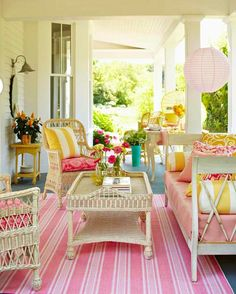 Pretty pastels for porch