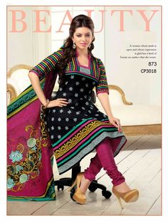 Black Fabulous Designer Dress Material V & Churidar Suits, Anarkali Suits, Salwar Kameez, Suit Fabric, Bollywood Celebrities, Cotton Style, Cotton Dresses, Party Wear, Designer Dresses