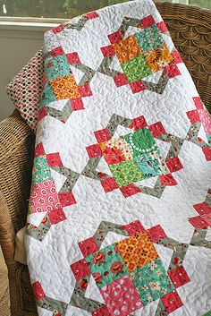Cathedral Square quilt (block originally from Quiltmaker's 100 Blocks v5)... other fun layouts