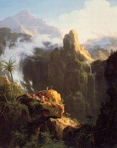 Thomas Cole (1801-1848) Landscape Composition: Saint John in the Wilderness Oil on canvas 1827