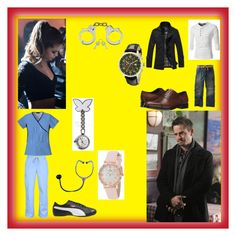 """""""Meeting Danny Messer"""" by hayzkidrocky ❤ liked on Polyvore featuring Puma, TheLees, Allegra K, Salvatore Ferragamo, Tommy Hilfiger, Kate Spade and Dr. Martens"""