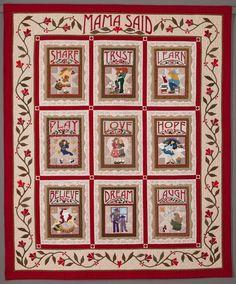 Mama Said quilt by Sue Garman