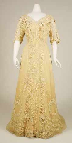 Afternoon Dress circa 1907. Edwardian.