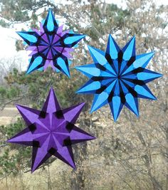 Purple and Blue Stars by Pictures by Ann, via Flickr