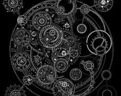 tattoo clock gear | Pin Gears Cogs Clock Stairs Neverending Tattoo Tree Side on Pinterest