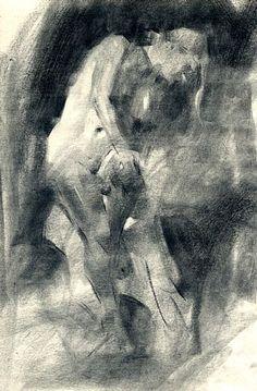 Jennifer McChristian, зарисовки углем.