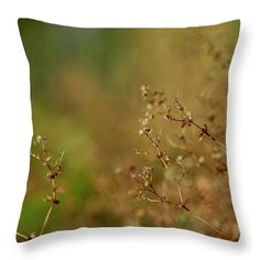 Autumn shrubs Throw Pillow for Sale by Helen Kelly