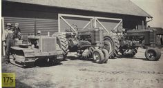 Old School John Deere tractors Old Tractors, John Deere Tractors, Time Tested, Vintage Farm, Farm Life, Cows, The Great Outdoors, Barns, Farming