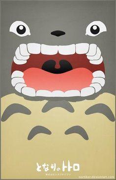 Totoro, when you feed him bamboo. Hayao Miyazaki, Japanese Culture, Japanese Art, Totoro Poster, Le Vent Se Leve, Japon Tokyo, Chibi, Studio Ghibli Movies, Fanart