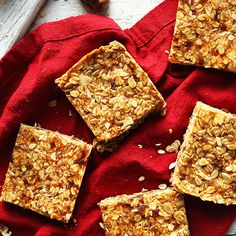 Crunchy peanut butter granola bars with toasted oats, coconut, and sunflower seeds! Eight ingredients, naturally sweetened, and so delicious!