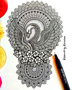 """""""Success isn't always about greatness. It's about consistency. Consistent hard work leads to success. Greatness will come. Please share… Mandala Art Lesson, Mandala Artwork, Mandala Painting, Mandala Drawing, Peacock Painting, Doodle Art Drawing, Zentangle Drawings, Cool Art Drawings, Art Drawings Sketches"""