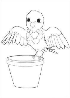 Zou-Zou Fargelegging for barn. Tegninger for utskrift og fargelegging nº 24