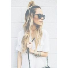 The Cool Girls Answer To the Top Knot: Half Top Knots | Beauty High