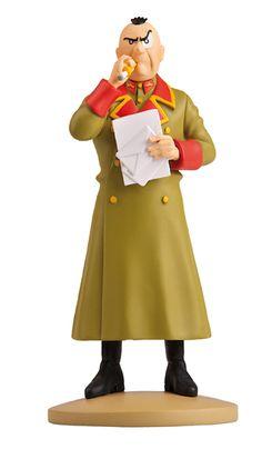 TINTIN FIGURINE NUMERO 37 COLLECTION disponible en France et en Belgique. Référence de la figurine: Colonel Sponsz, L'affaire Tournesol, planche 56, C2