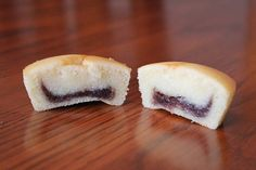 Mochi Cupcakes with Koshi-an (Sweet Red Bean Paste) Filling