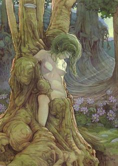 In Greek mythology, the Meliae or Meliai (Ancient Greek: Μελίαι or Μελιάδες) were nymphs of the ash tree, whose name they shared. They appeared from the drops of blood spilled when Cronus castrated Uranus, according to Hesiod, Theogony 187.