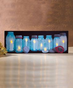 Look at this #zulilyfind! Canning Jars Lighted Canvas by Ohio Wholesale, Inc. #zulilyfinds