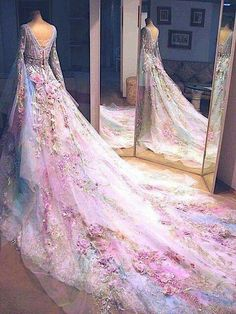 Fairy wedding dress, I saw this posted everyywhere, finally found where it came from! http://www.aliexpress.com/store/product/Matagri-Bateau-Neck-Open-Back-Long-Sleeves-Light-Blue-Pink-Pastel-Floral-Flowers-Wedding-Dress-Princess/1265007_32288822722.html