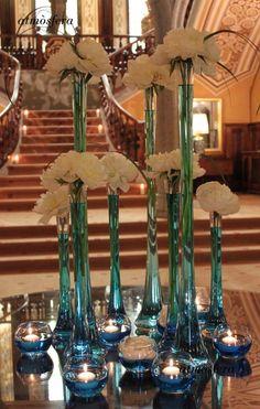 Decoración centros de mesa. # bodas
