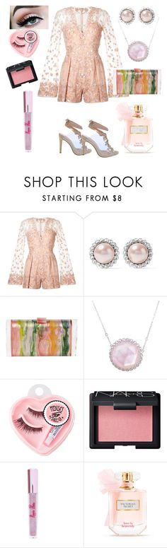 """""""Girly Girl Gigi"""" by gigiglow ❤ liked on Polyvore featuring Zuhair Murad, Miu Miu, Edie Parker, Laura Munder, Medusa's Makeup, NARS Cosmetics, Poppin Hoez and Victoria's Secret"""