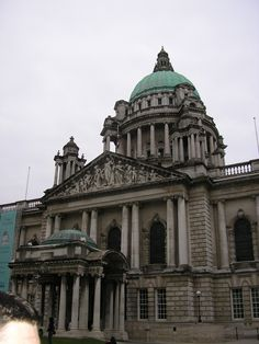 Belfast City Hall is the civic building of Belfast City Council. Located in Donegall Square, Belfast, County Antrim, Northern Ireland, it faces north and effectively divides the commercial and business areas of the city centre.