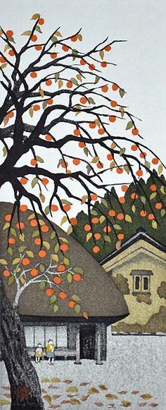 Persimmon in Autumn by Kazuyuki Ohtsu