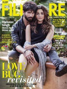 Alia Bhatt and Shahid Kapoor bring some Shaandaar hotness on the latest Filmfare cover! Bollywood Images, Bollywood Couples, Bollywood Stars, Bollywood Celebrities, Bollywood Actress, Teen Celebrities, Celebrities Fashion, Bollywood Fashion, Celebs