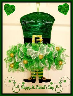 St Patricks Day Wreath Irish Decor St Patricks Day Decor