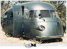 1937 Hunt House Car. Looks like a locomotive.