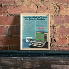 Radio Shack Computer  TRS 80 Color Computer  BASIC Computer Ad   80s Computer Graphics   Vintage Radio Shack Ad  Programmer Gift Ideas by RetroPapers