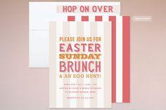 gorgeous easter brunch invite