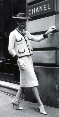 Chanel.  Back in the early still modest days...too bad society has gone off the deep end...
