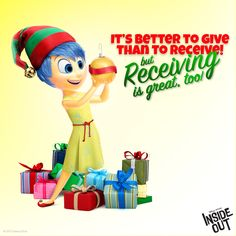 Bring someone joy this holiday season with the gift of Inside Out. Get It Today!