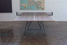 Ping pong table. Costs 4K. Good ideas for paint and hairpin legs tho