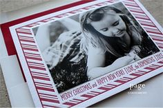 Letterpress Holiday Photo Card | Christmas Card | Page Stationery | Candy Cane Design