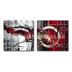 Abstract Hand-painted Oil Painting with Stretched Frame