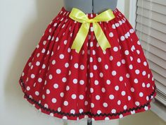 Priority Mail  Minnie Mouse Skirt  with a sexy by AquamarCouture, $39.50