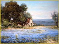 Robert Wood paintings for sale Watercolor Landscape, Landscape Paintings, Watercolor Paintings, Paintings I Love, Paintings For Sale, Wood Paintings, Robert Wood, Art Stand, Blue Bonnets