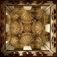 Canterbury Ceiling - Gothic Fan vaulting - Canterbury cathedral, England Copyright 2012, Cooke Photographics