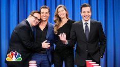 Flip Cup with Gisele Bundchen and Matthew McConaughey (Late Night with J...