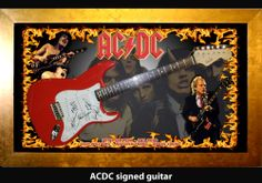 ACDC signed guitar